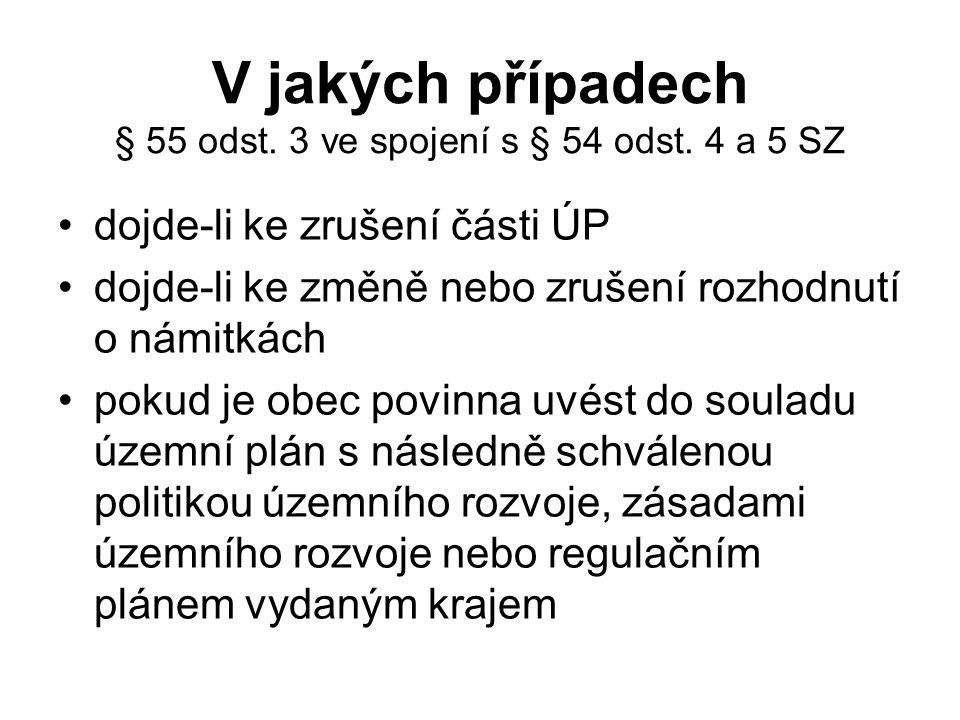 V jakých případech § 55 odst. 3 ve spojení s § 54 odst.