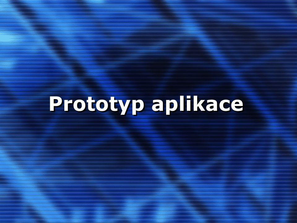 Prototyp aplikace
