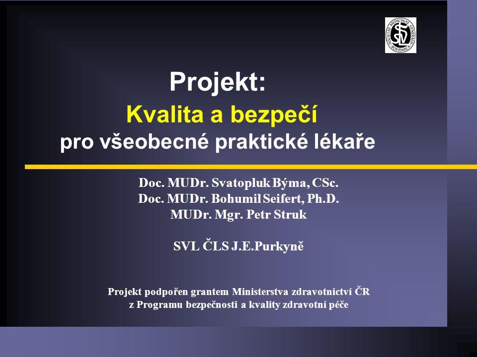 Projekt: Kvalita a bezpečí pro všeobecné praktické lékaře Doc.