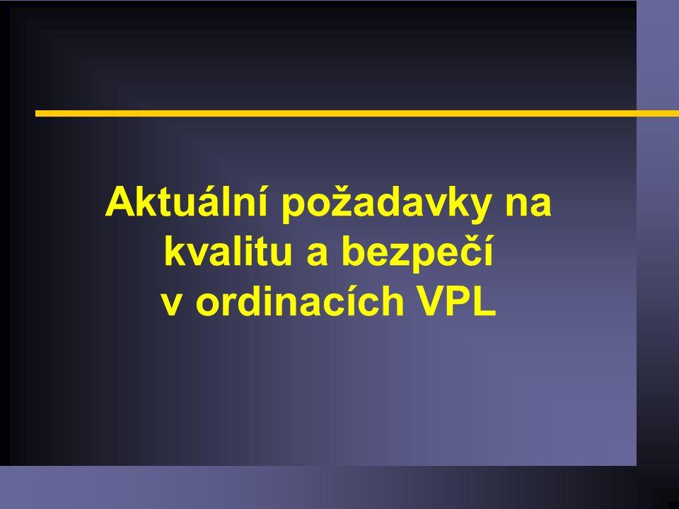 Aktuální požadavky na kvalitu a bezpečí v ordinacích VPL