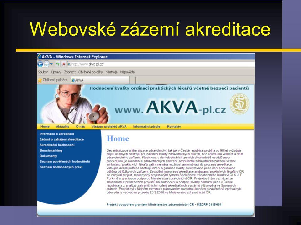 Webovské zázemí akreditace