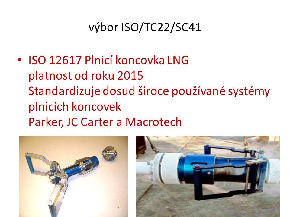 výbor ISO/TC220 ISO 12991 LNG – nádrže na palubní skladování jako paliva pro motorová vozidla platnost od roku 2012 Konvertováno do směrnice UN/ECE/R110, původně pouze pro CNG, doplněné o LNG v roce 2014