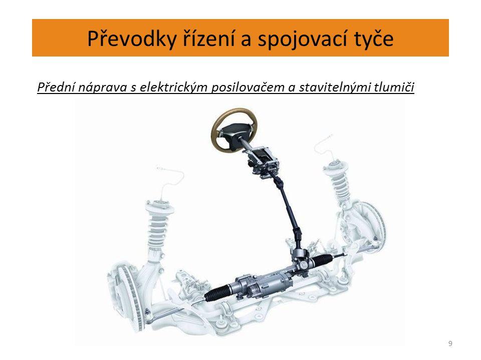 Převodky řízení a spojovací tyče 9 Přední náprava s elektrickým posilovačem a stavitelnými tlumiči