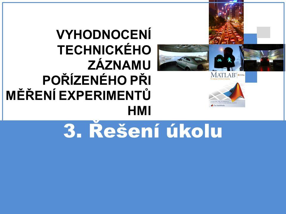 3. Řešení úkolu