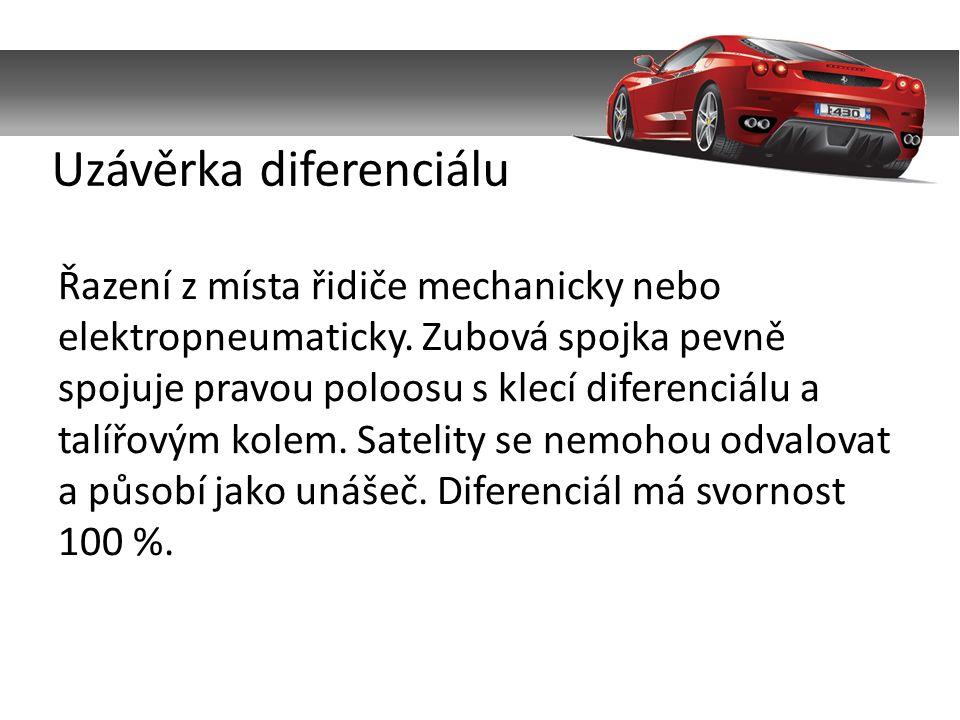 Řazení z místa řidiče mechanicky nebo elektropneumaticky.