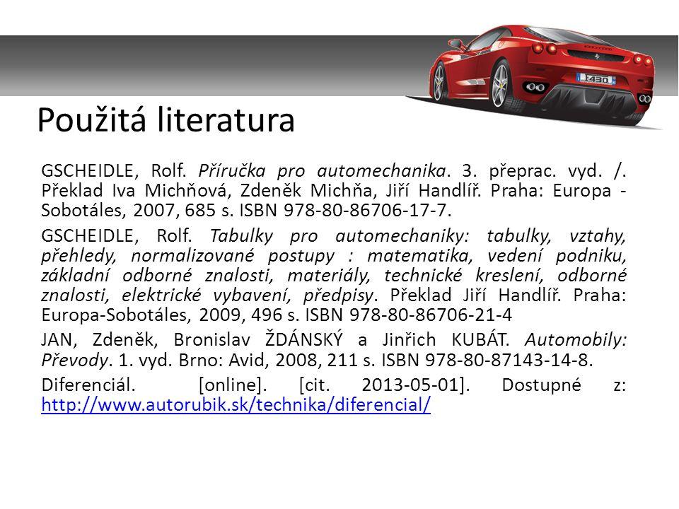 GSCHEIDLE, Rolf. Příručka pro automechanika. 3. přeprac.