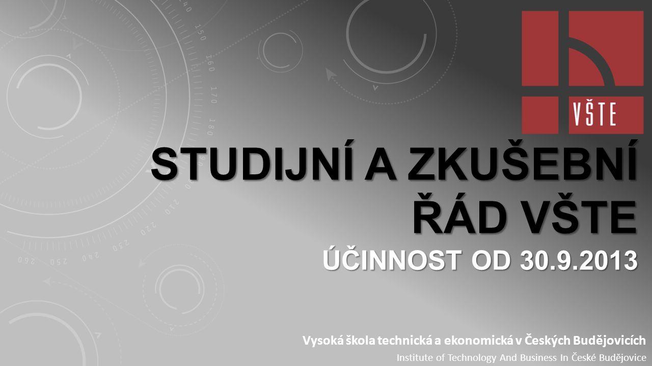 Klasifikační stupnice Studijní a zkušební řád HODNOCENÍ PRŮBĚHU STUDIA Článek 17 Hodnocení zkoušky.