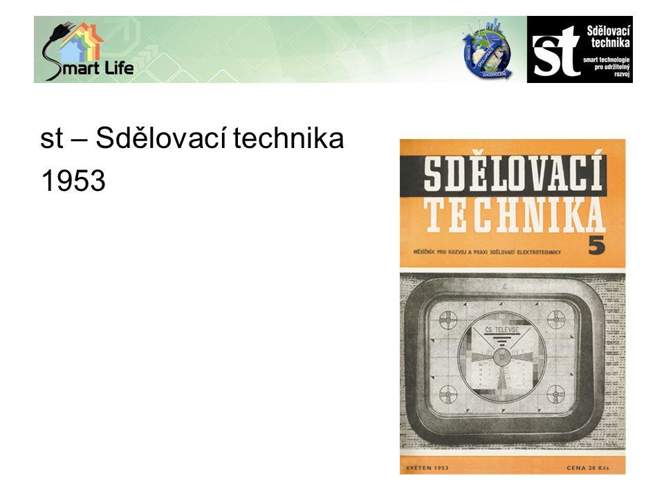 st – Sdělovací technika 1953