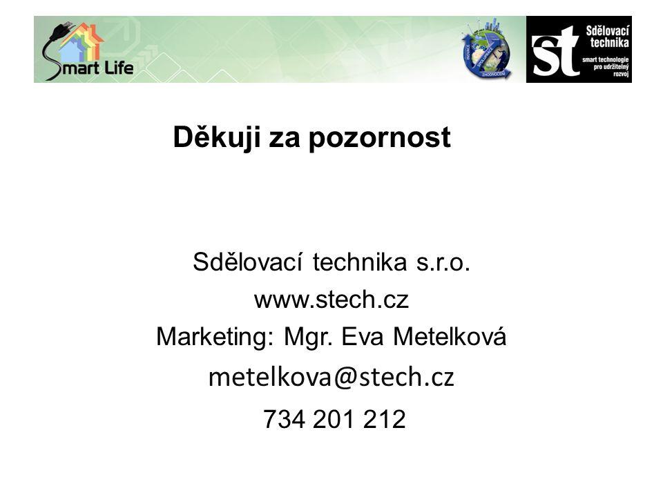 zh Děkuji za pozornost Sdělovací technika s.r.o. www.stech.cz Marketing: Mgr.