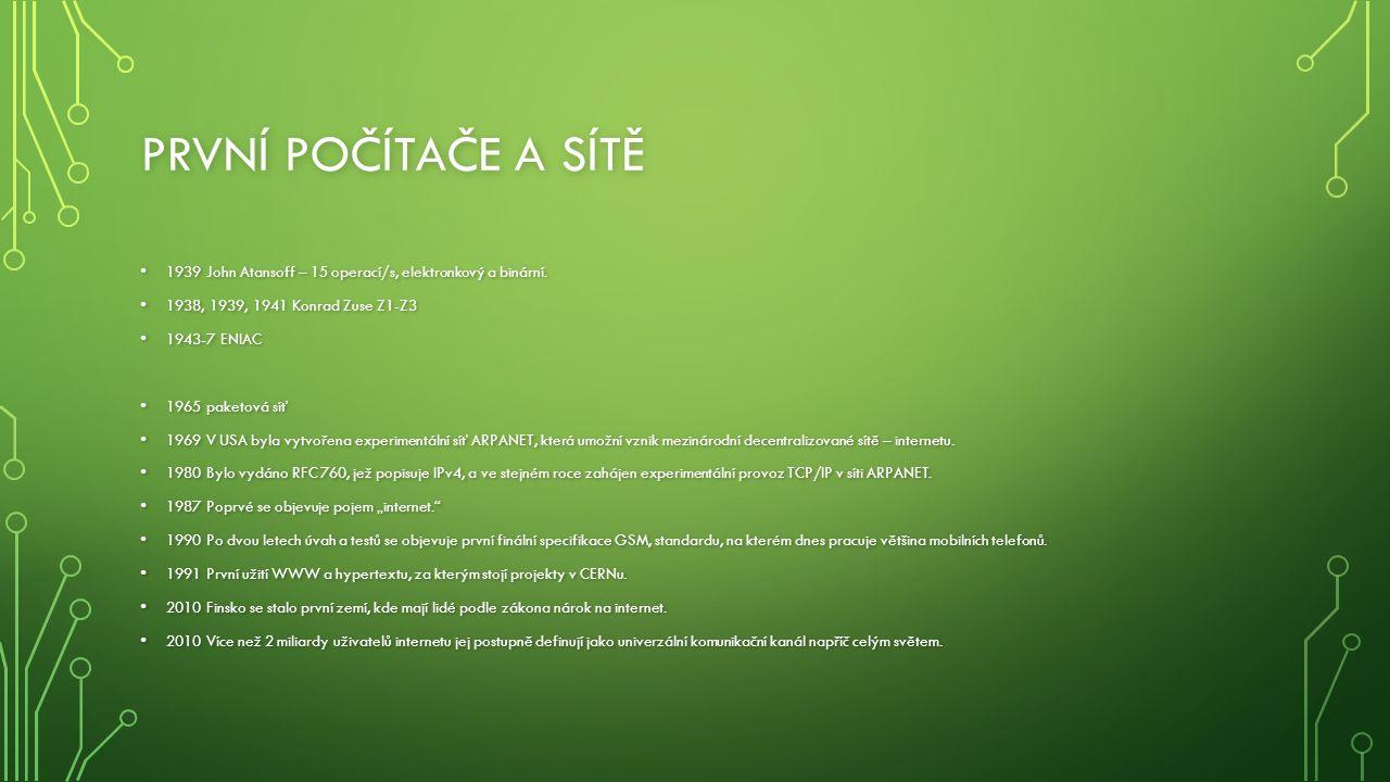 INFORMAČNÍ SPOLEČNOST 1975 poprvé použit pojem informační společnost (Francie).