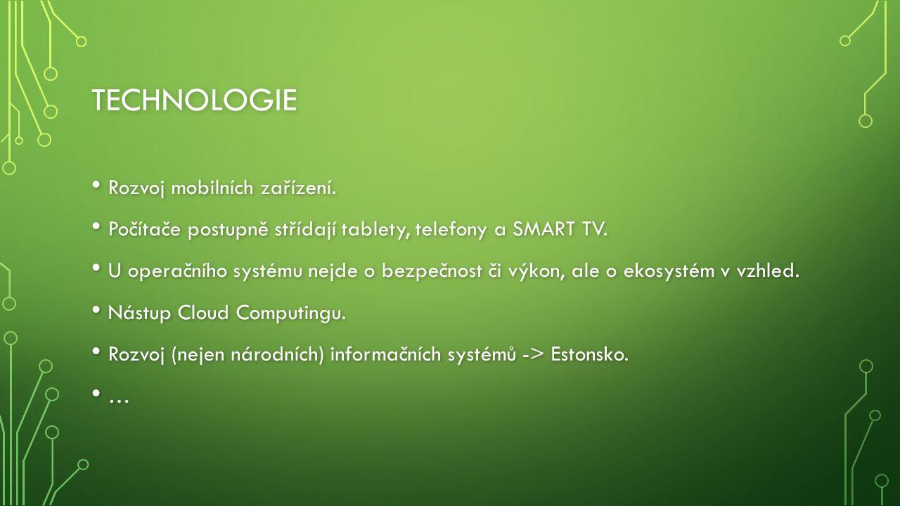 TECHNOLOGIE Rozvoj mobilních zařízení. Rozvoj mobilních zařízení.