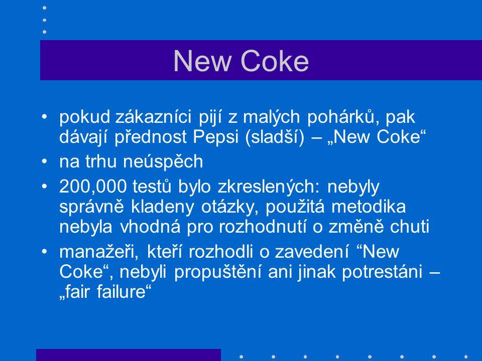 """New Coke pokud zákazníci pijí z malých pohárků, pak dávají přednost Pepsi (sladší) – """"New Coke"""" na trhu neúspěch 200,000 testů bylo zkreslených: nebyl"""