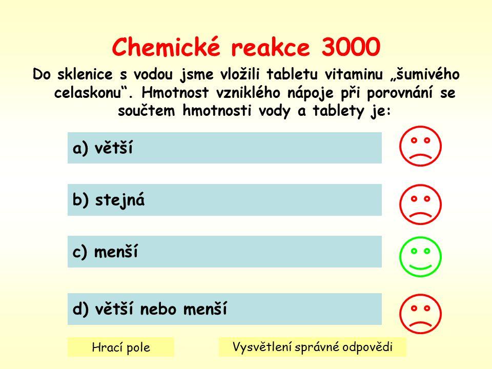 """Chemické reakce 3000 Do sklenice s vodou jsme vložili tabletu vitaminu """"šumivého celaskonu ."""