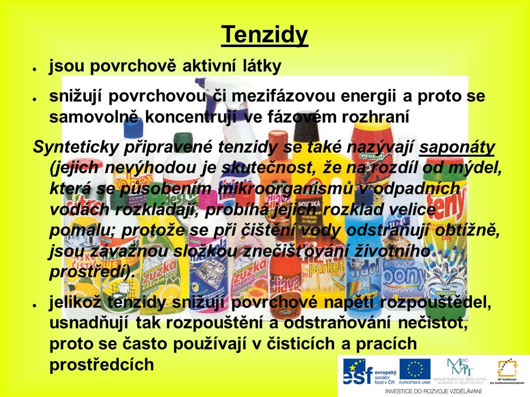 Použité zdroje: - Mydlá a pracie prostriedky.In: Www.infovek.sk [online].