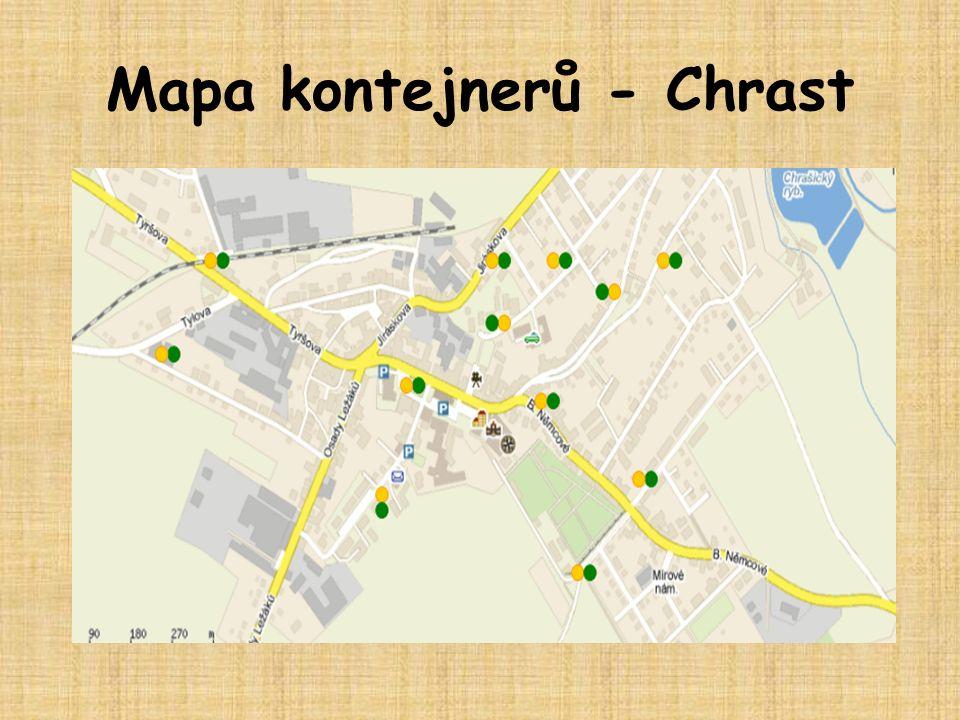 Mapa kontejnerů - Chrast