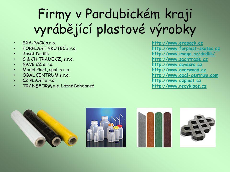 Firmy v Pardubickém kraji vyrábějící plastové výrobky ERA-PACK s.r.o.http://www.erapack.czhttp://www.erapack.cz FORPLAST SKUTEČ s.r.o.http://www.forpl