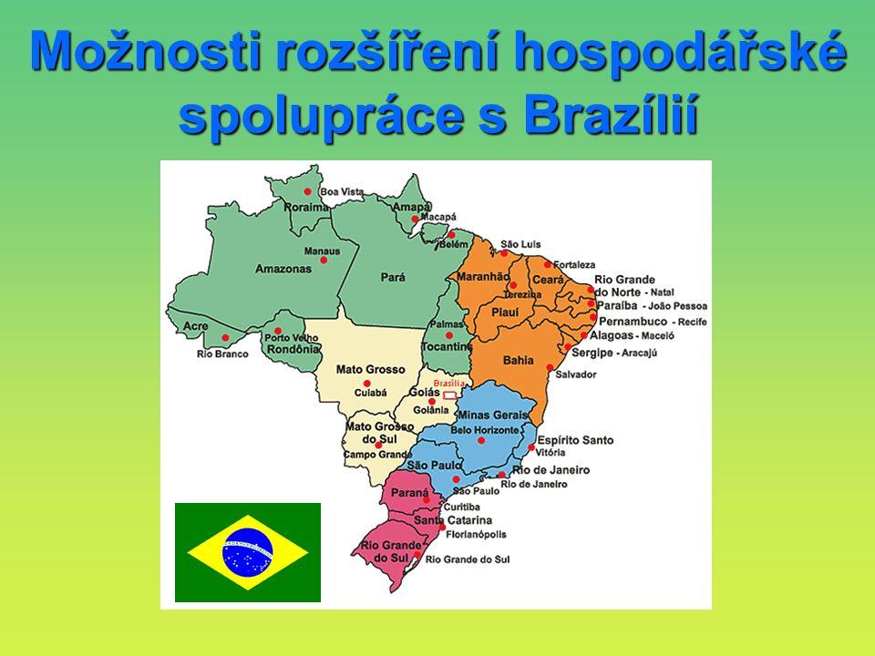 Možnosti rozšíření hospodářské spolupráce s Brazílií