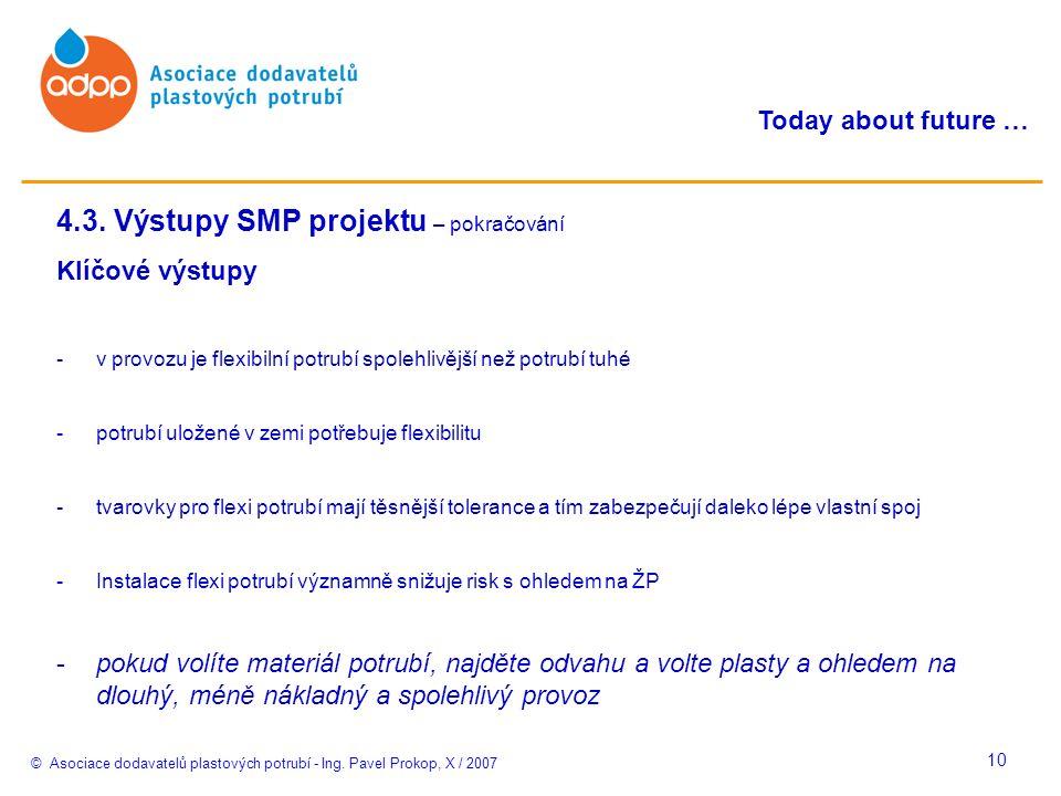 © Asociace dodavatelů plastových potrubí - Ing. Pavel Prokop, X / 2007 Today about future … 10 4.3.
