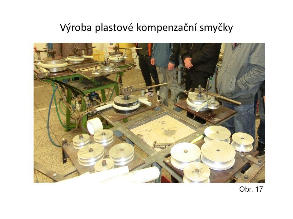 Výroba plastové kompenzační smyčky Obr. 17