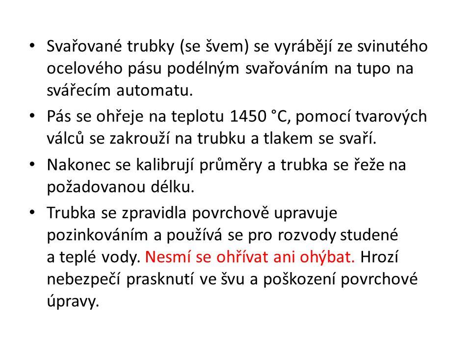 Závit na pozinkované švové trubce Obr. 2