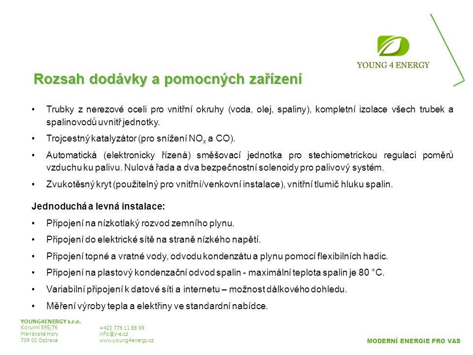 Rozsah dodávky a pomocných zařízení YOUNG4ENERGY s.r.o. Korunní 595/76 Mariánské Hory 709 00 Ostrava +420 776 11 88 99 info@y-e.cz www.young4energy.cz