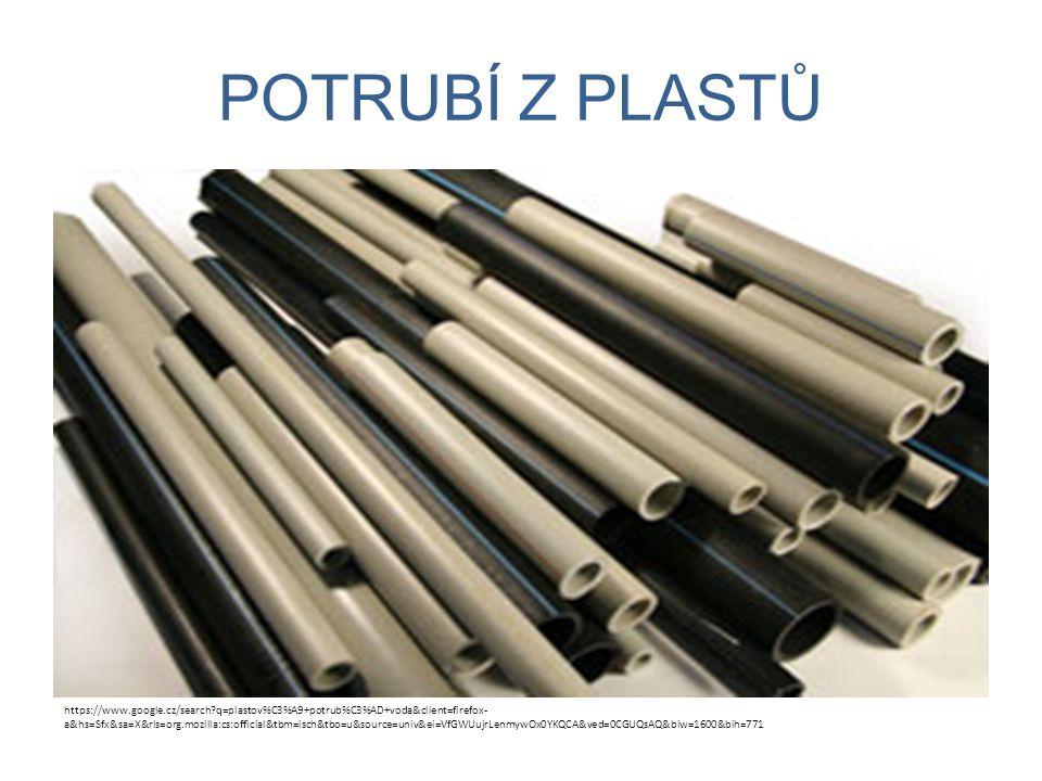 Tlakové řady plastových trubek.