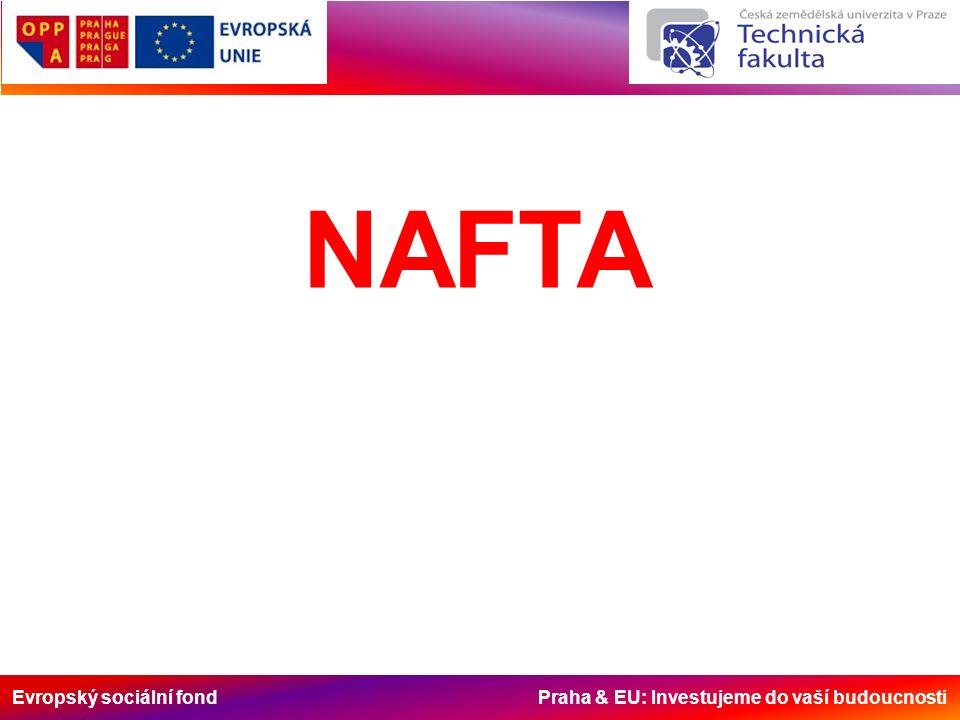 Evropský sociální fond Praha & EU: Investujeme do vaší budoucnosti NAFTA