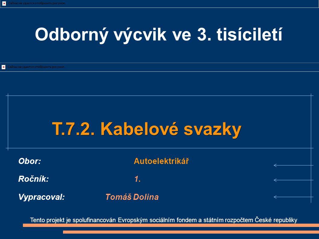 Tento projekt je spolufinancován Evropským sociálním fondem a státním rozpočtem České republiky T.7.2.