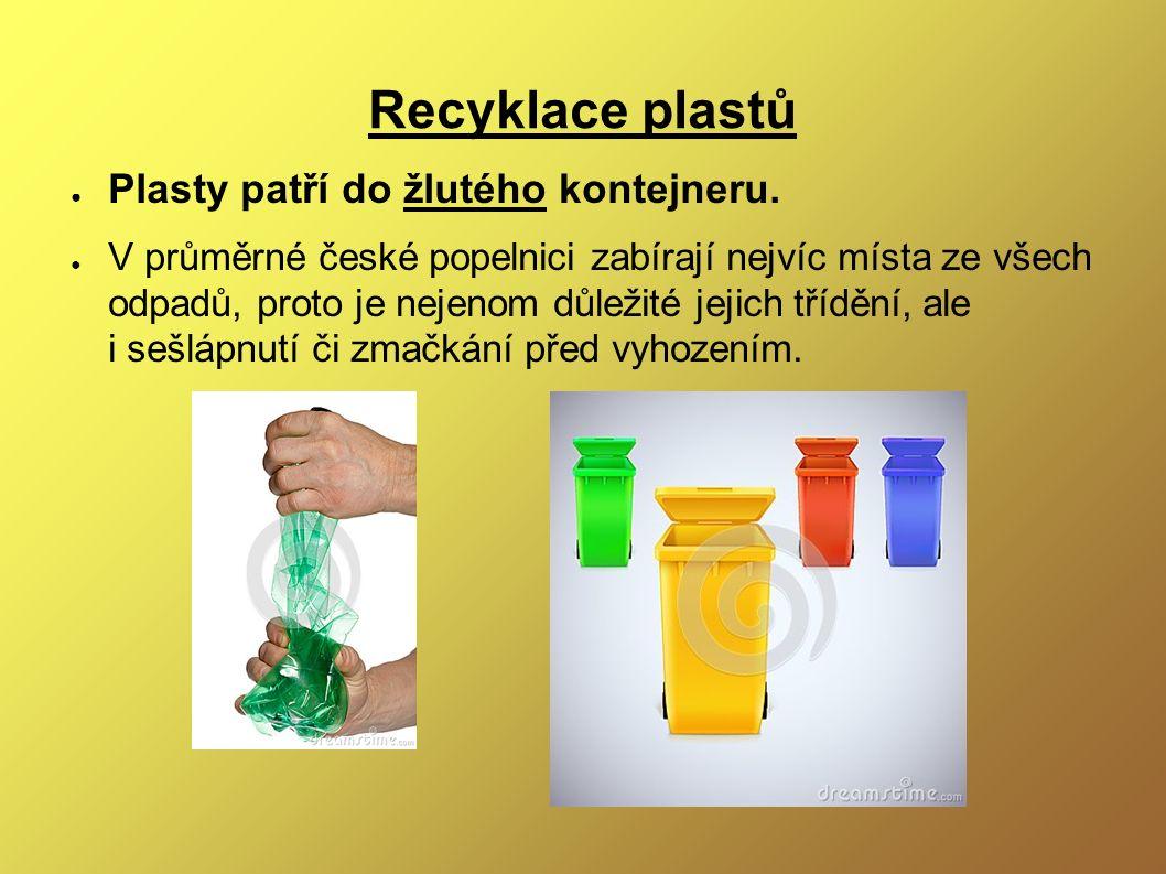 Recyklace plastů ● Plasty patří do žlutého kontejneru.