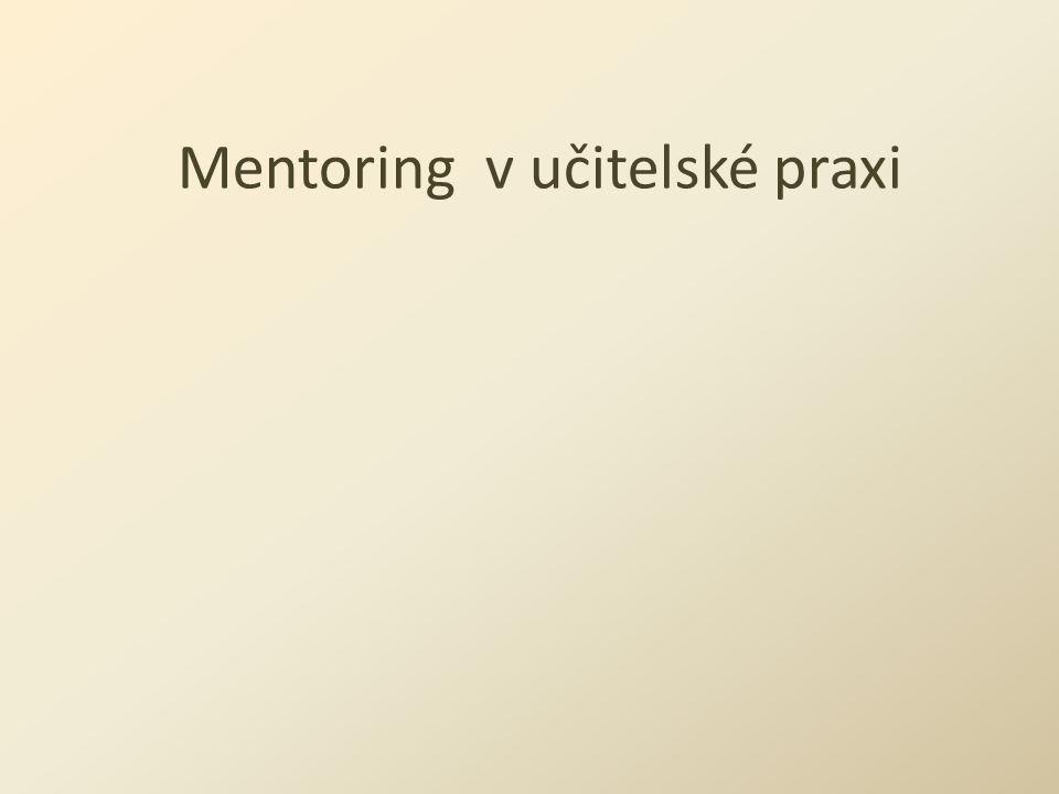 Mentoring v učitelské praxi