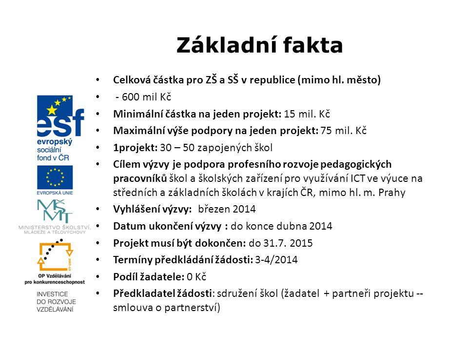 Základní fakta Celková částka pro ZŠ a SŠ v republice (mimo hl.
