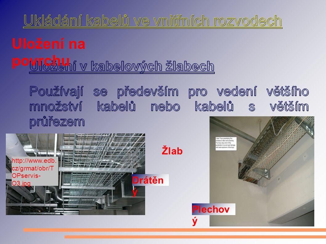 Uložení na povrchu http://www.edb. cz/grmat/obr/T OPservis- O3.jpg Žlab Drátěn ý Plechov ý