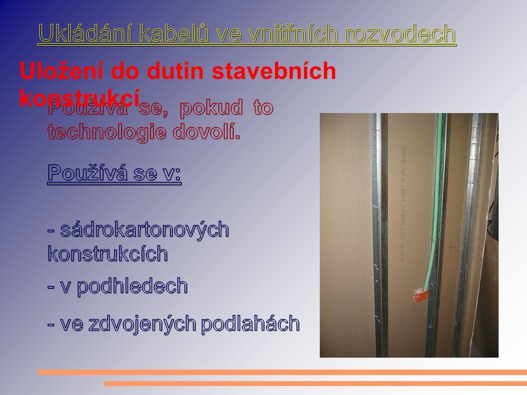 Uložení do dutin stavebních konstrukcí