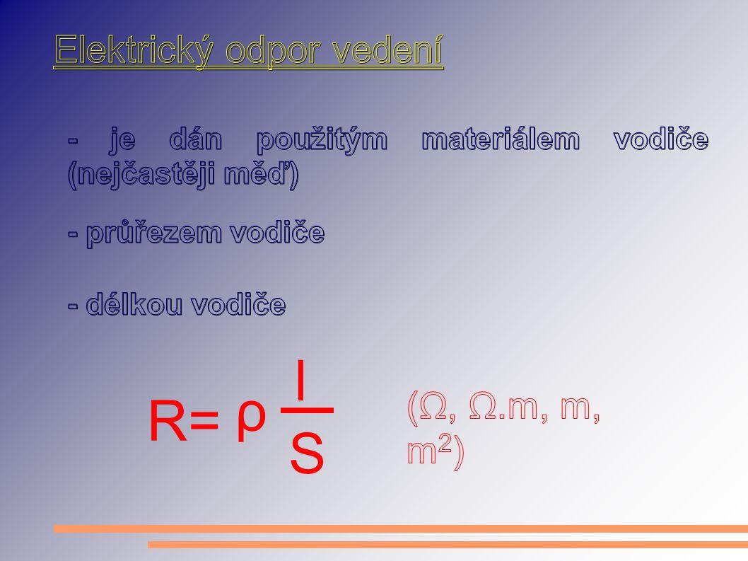 R= ρ l S