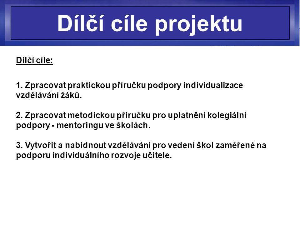 Dílčí cíle projektu Dílčí cíle: 1.