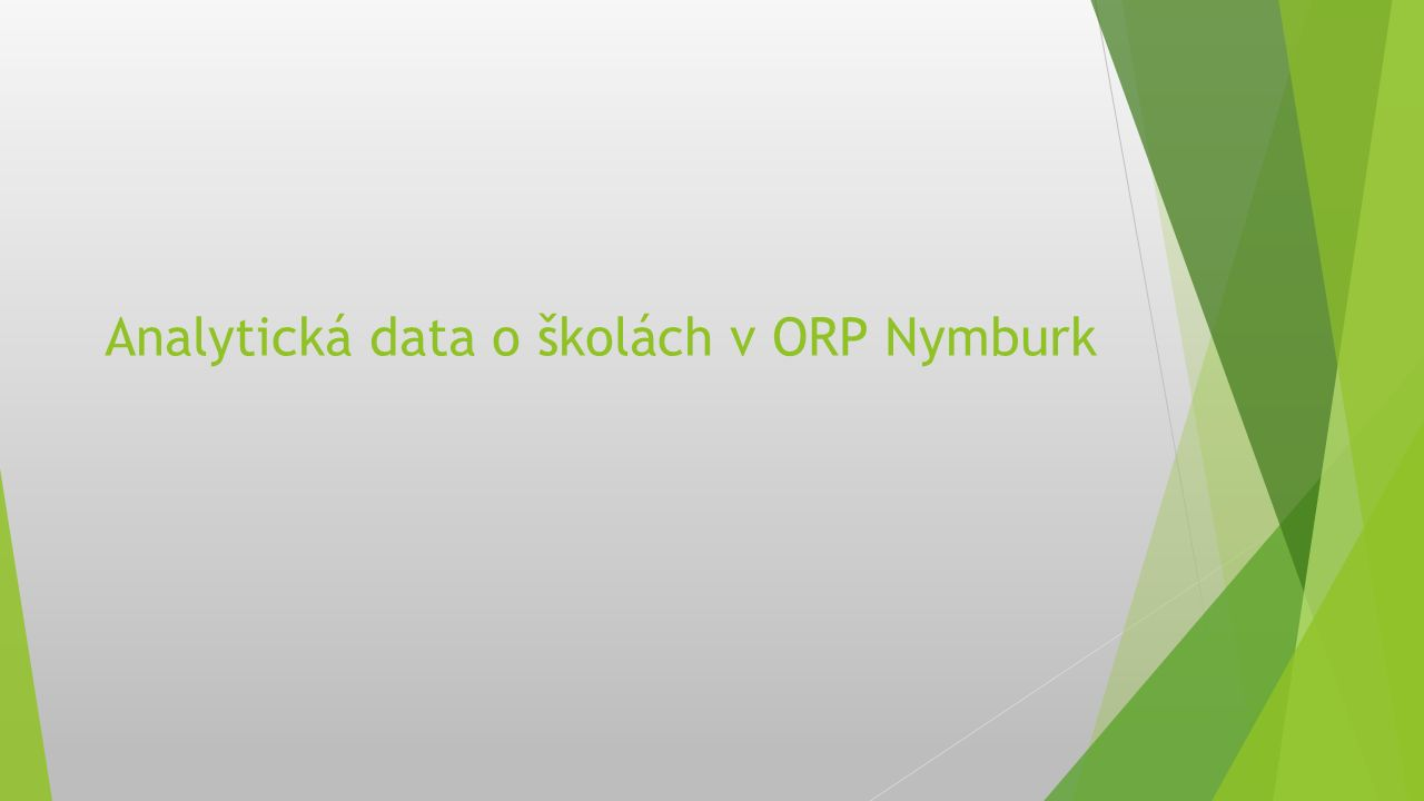 Analytická data o školách v ORP Nymburk