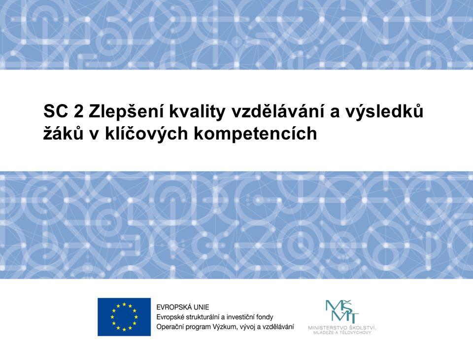 Název kapitoly Název podkapitoly Text SC 2 Zlepšení kvality vzdělávání a výsledků žáků v klíčových kompetencích