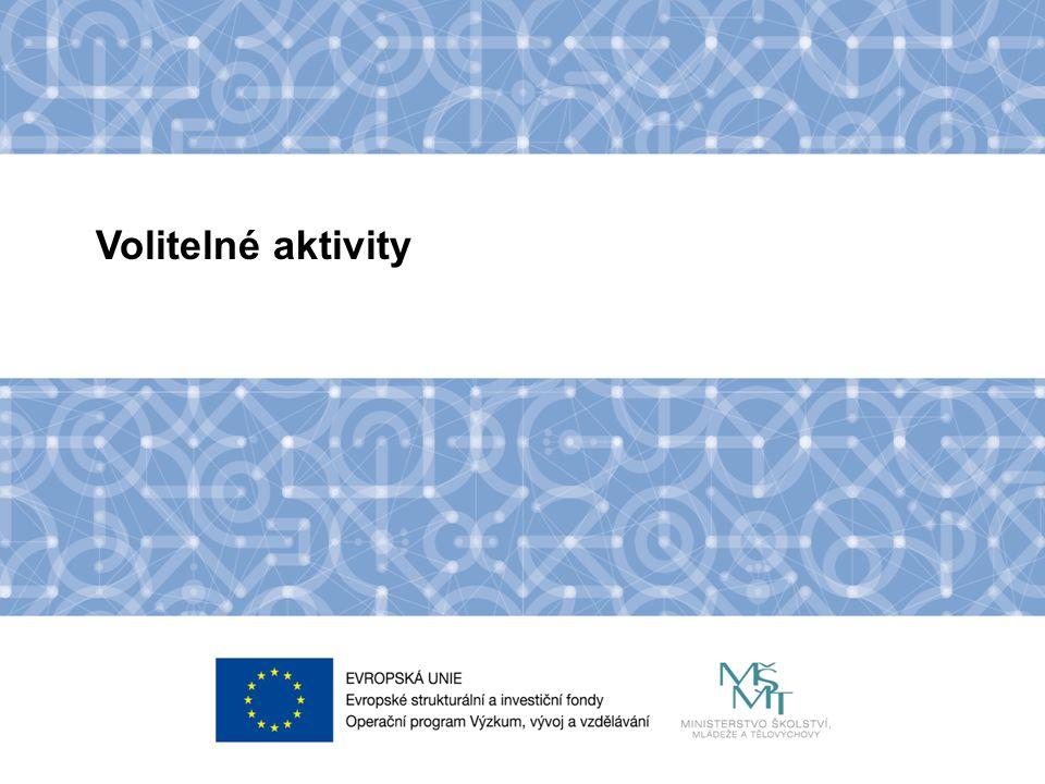 Název kapitoly Název podkapitoly Text Volitelné aktivity