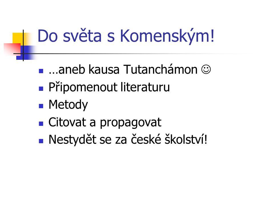 Do světa s Komenským.