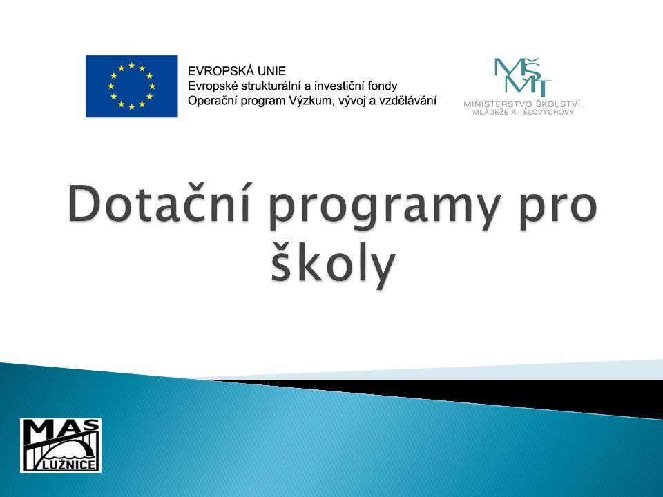 Šablony  Operační program Výzkum, vývoj a vzdělávání  Ministerstvo školství, mládeže a tělovýchovy  Výzva č.