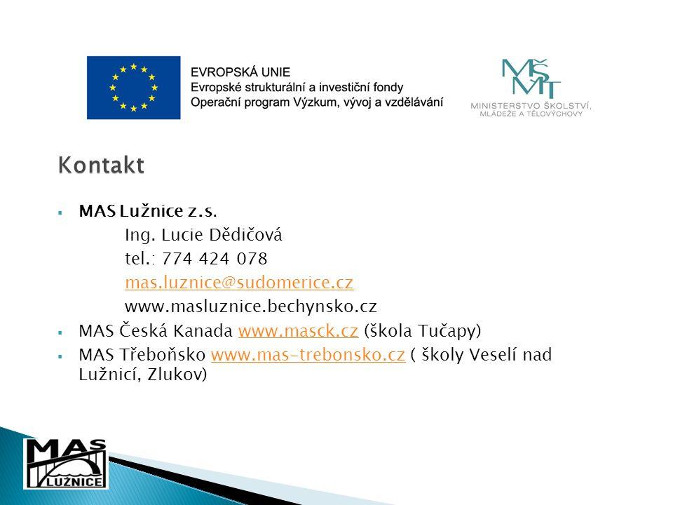 Kontakt  MAS Lužnice z.s. Ing.