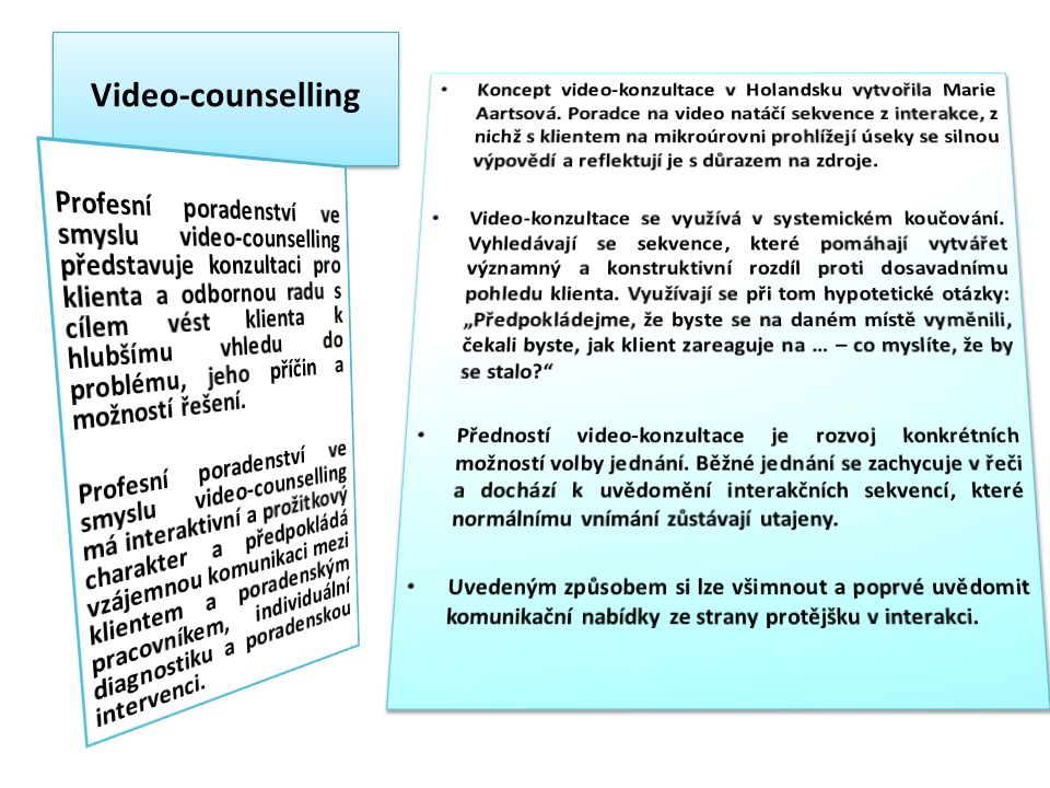 Video-counselling