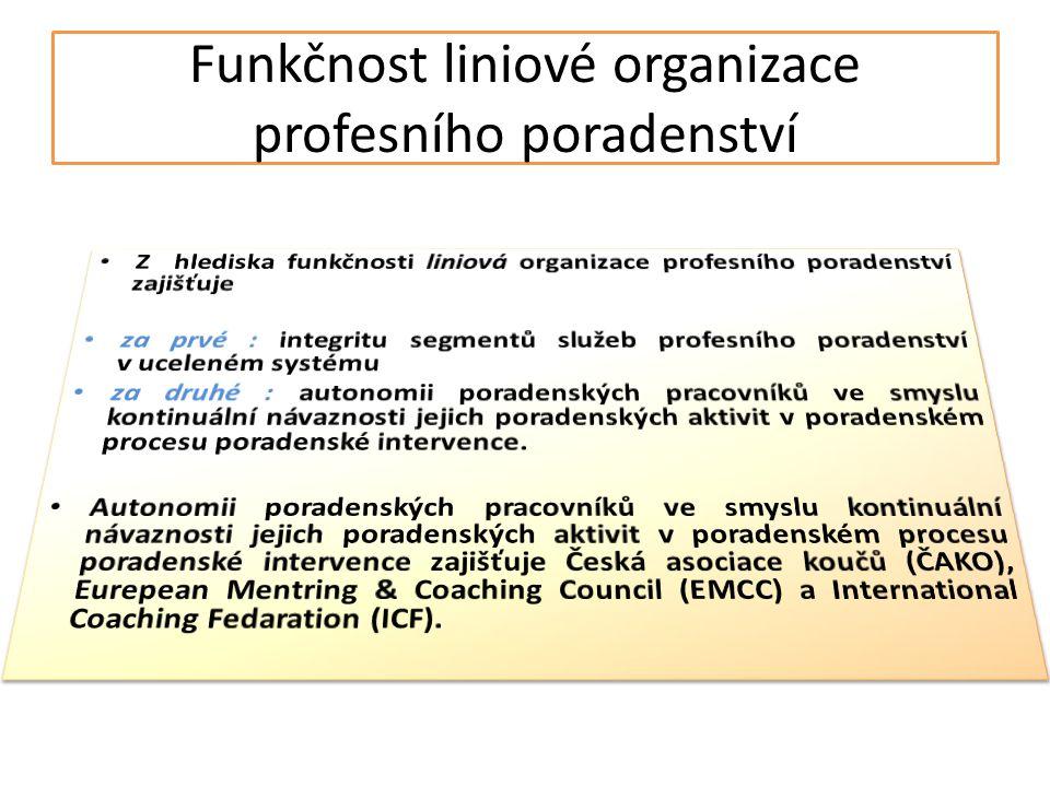 Funkčnost liniové organizace profesního poradenství