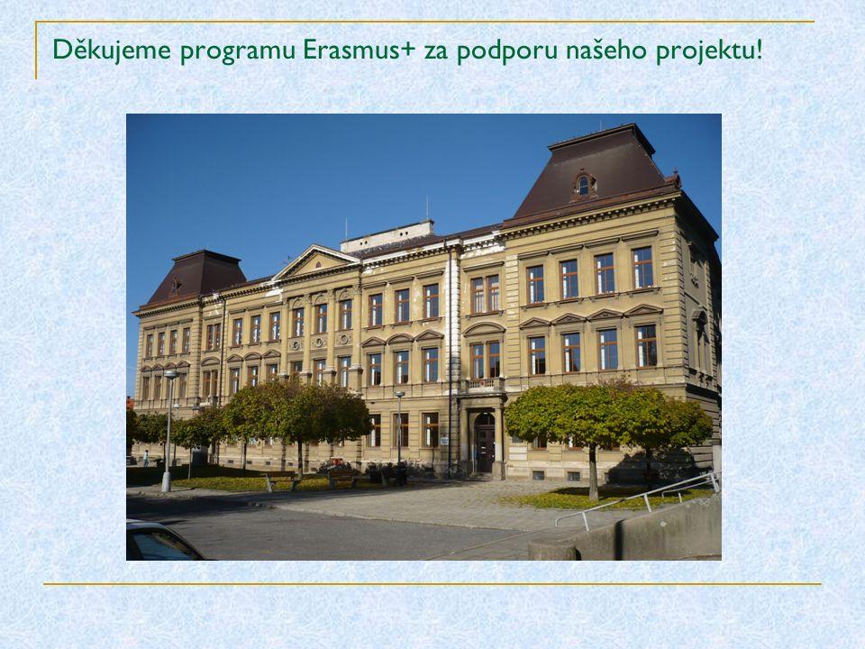 Děkujeme programu Erasmus+ za podporu našeho projektu!