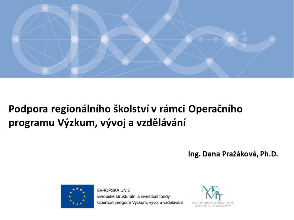 Podpora regionálního školství v rámci Operačního programu Výzkum, vývoj a vzdělávání Ing.