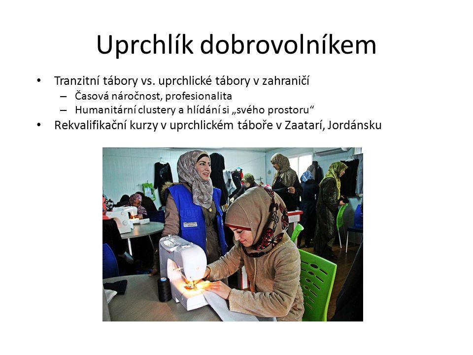 Uprchlík dobrovolníkem Tranzitní tábory vs.