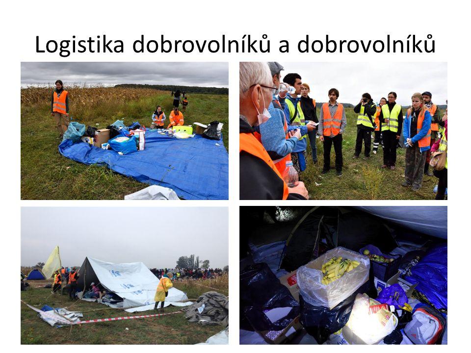 Logistika dobrovolníků a dobrovolníků