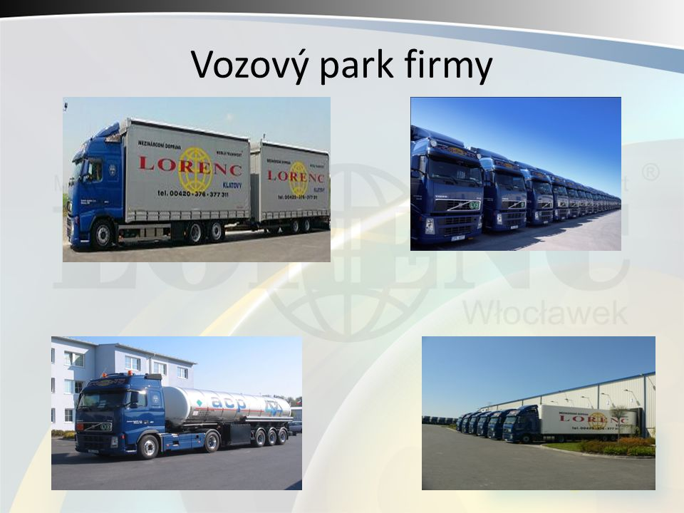 Vozový park firmy
