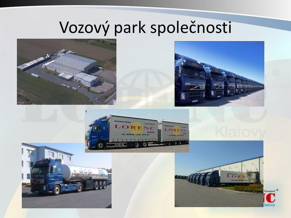Vozový park společnosti