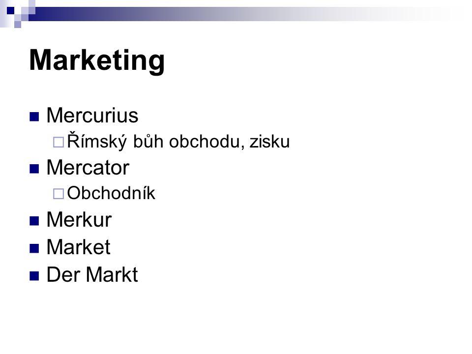 Marketing Mercurius  Římský bůh obchodu, zisku Mercator  Obchodník Merkur Market Der Markt